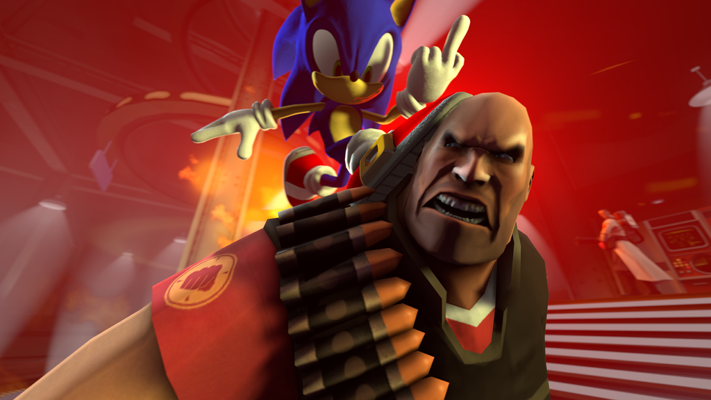 Sonic Vs The Heavy By Hyperchaotix On Deviantart