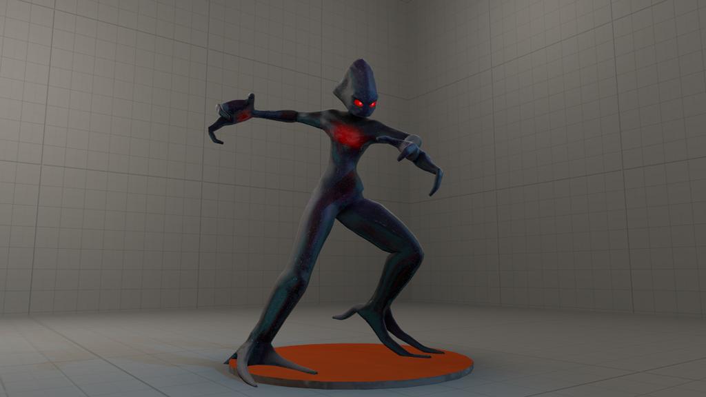 Space Alien 3D by Hyperchaotix