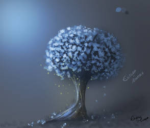 Studying Trees Painting 2 by gatadaay