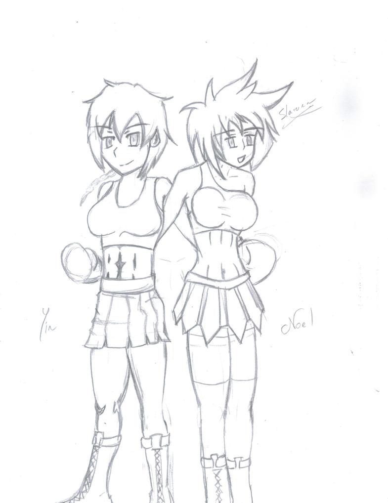 Yin and Noel posing By Slarwen by MasterSaruwatari