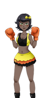 Nana's second boxing attire By Shyoia by MasterSaruwatari