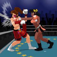 Nana vs Aoi KO Remake by Drawing-4Ever by MasterSaruwatari