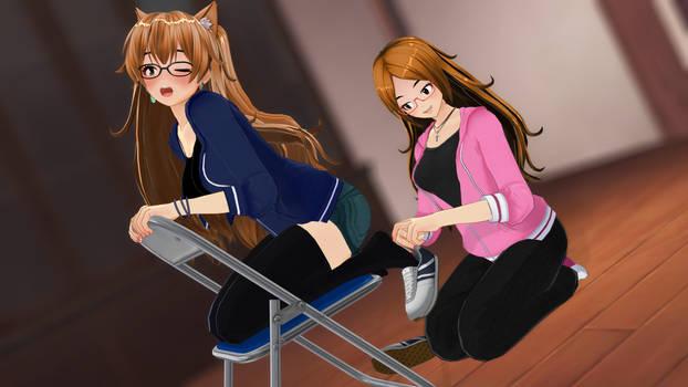 Fun With Emika's Feet (Socks Version)