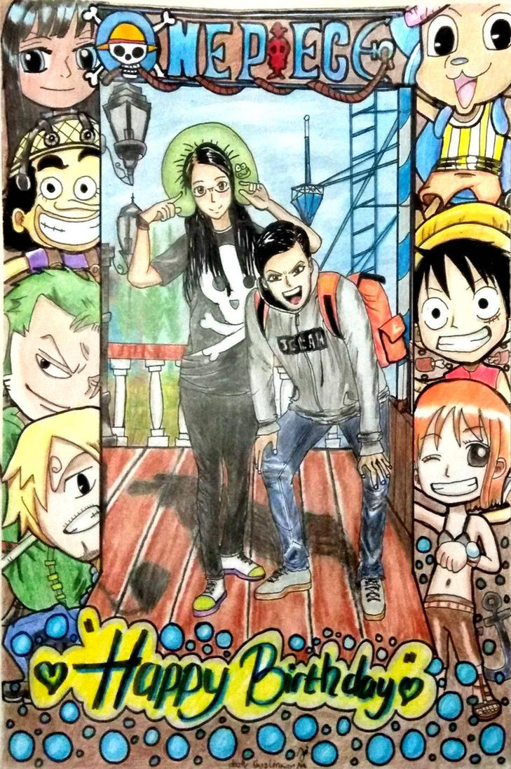 OnePiece Photo Frame + Manga Sketch by lingsanart on DeviantArt