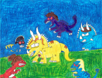 The Jurassic House (Feral Raptors) by Bry-Guy-1996