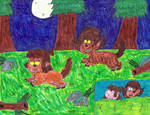 Lisa and Darcy's night as werewolves
