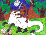 Deadpool vs Xenodragon by Bry-Guy