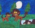 Sid and Adelaine's night as werewolves by Bry-Guy-1996