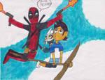 Deadpool in the Owl House by Bry-Guy