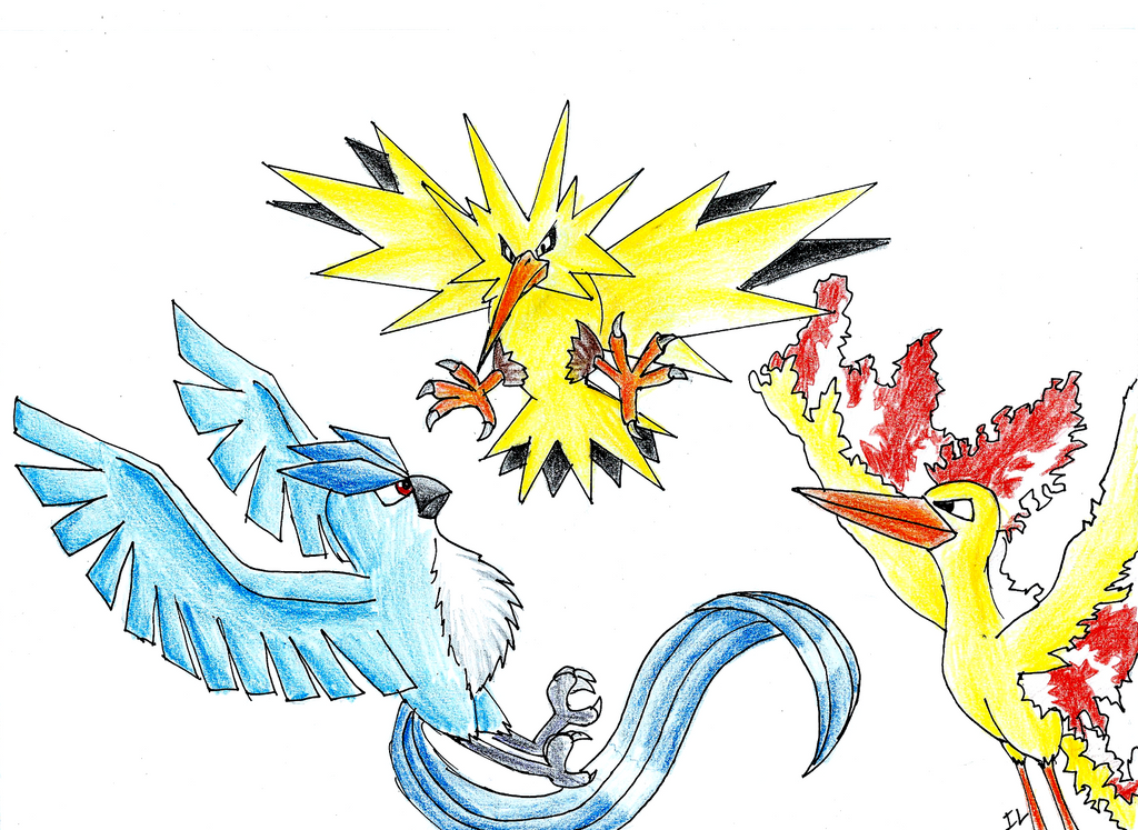 pokemon Legendary birds by NightFury1020 on DeviantArt