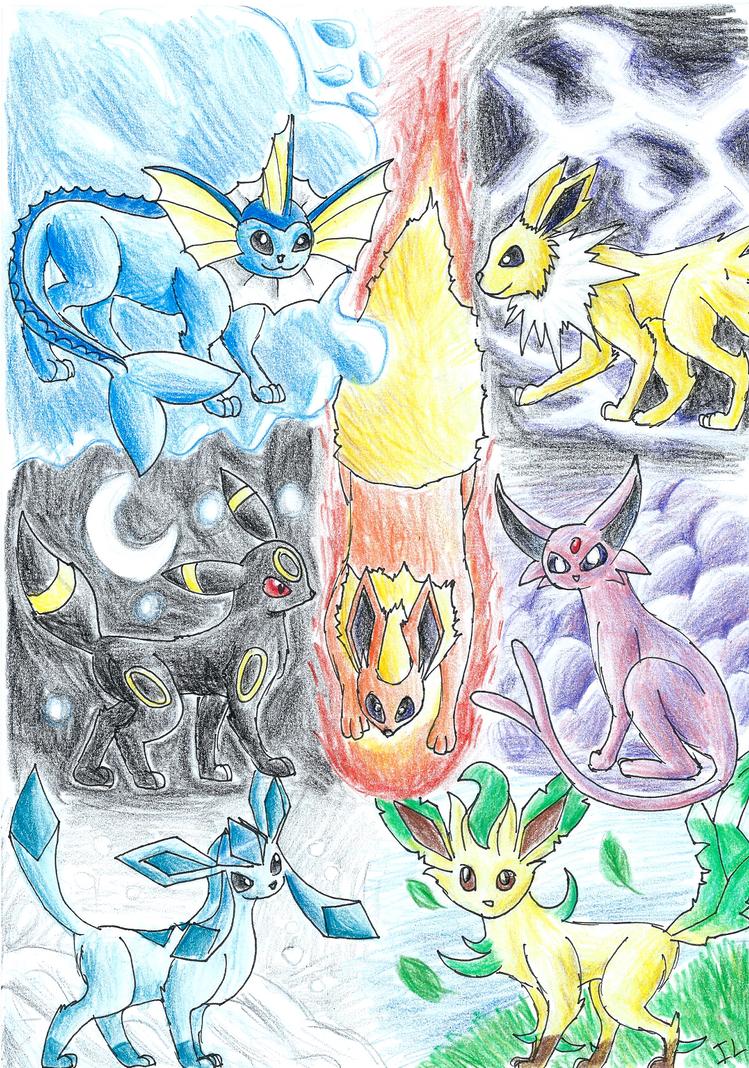 Eevee S Evolutions By Nightfury1020 On Deviantart