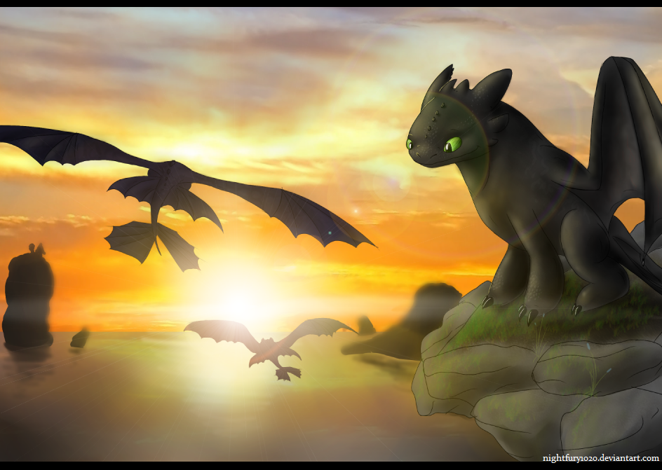 Come fly with us by nightfury1020 on deviantart - Dragons furie nocturne ...