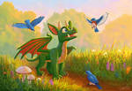 Dragon and his friends