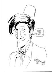 11th Doctor portrait by. Mike Collins
