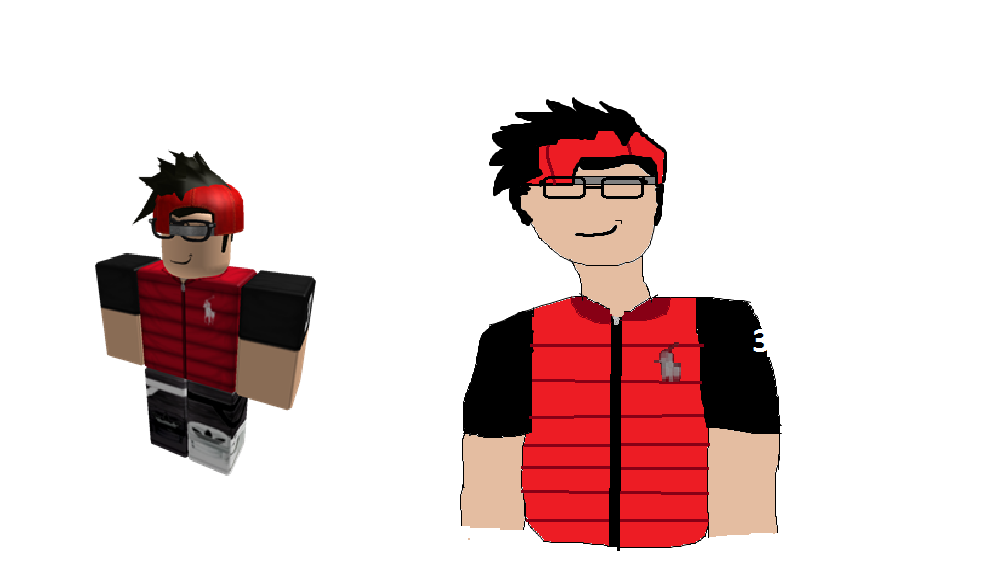 how to draw a roblox person