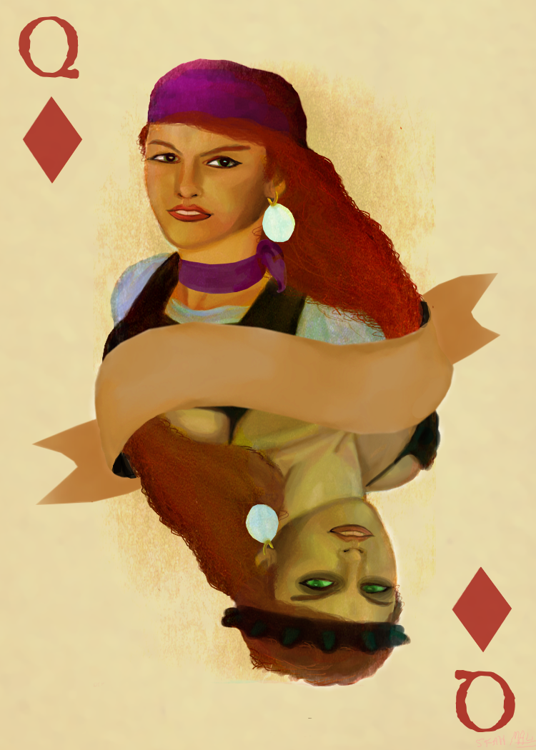 A Telltale Queen of Diamonds by Fawfulhasfury
