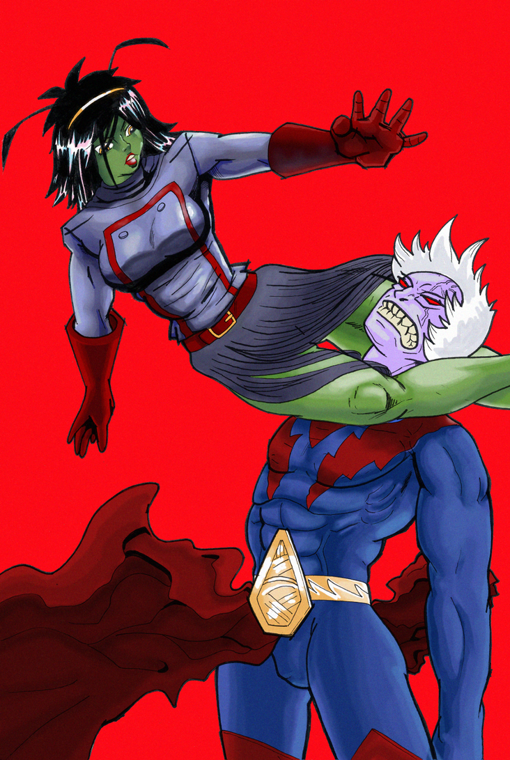 Cosmic Marvel - Mantis Vs. Magus by Fawfulhasfury