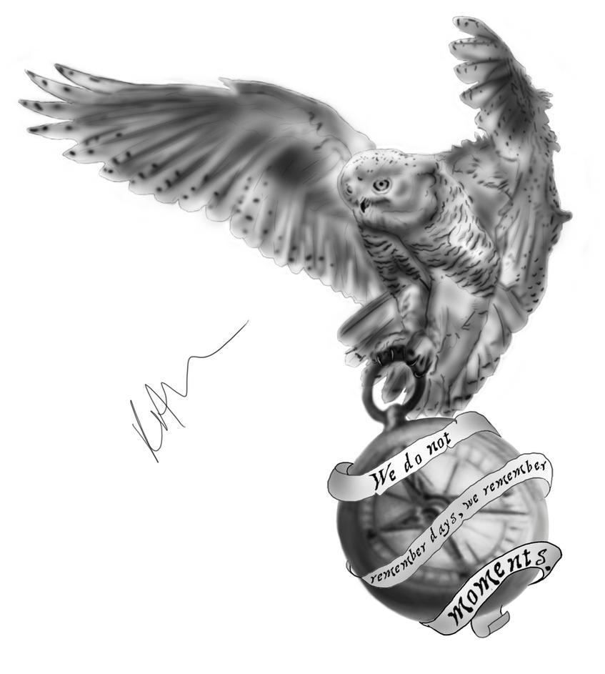 Owl compass - tattoo design by grrtigertiger on DeviantArt
