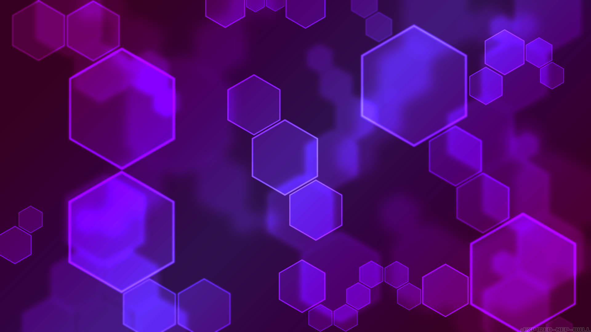 Purple Deep Pink Hexagon Abstract Wallpaper By Expired Nep