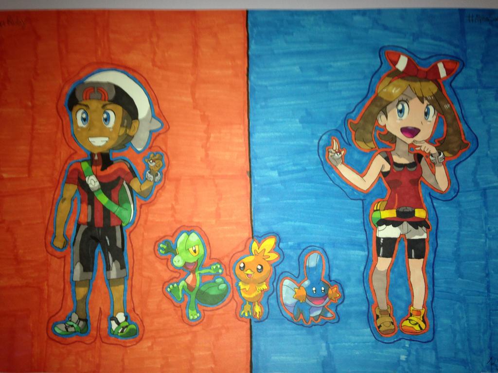 Pokemon Omega Ruby and Alpha Sapphire Fanart by RachelRoseLitts