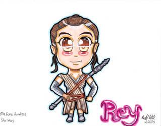 Chibi Star Wars: The Force Awakens: Rey by RachelRoseLitts