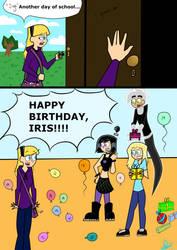 HAPPY BIRTHDAY, IRIS by greeneyeswhitehair