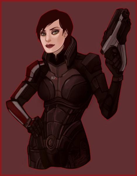 ME: Shepard by Weissidian