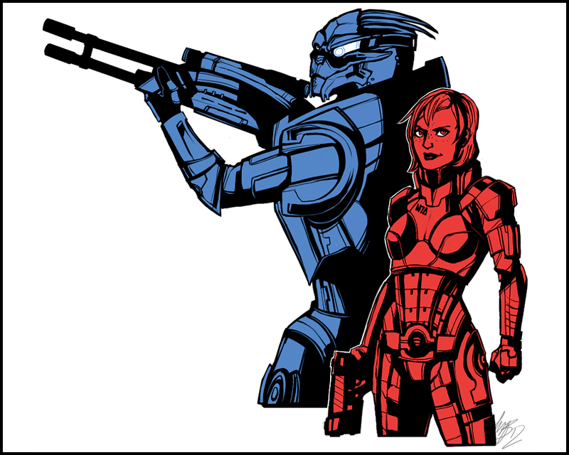 ME: No Shepard without Vakarian by Weissidian