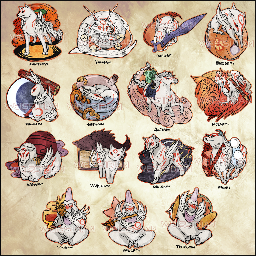 Okami: Celestial God Stickers by Weissidian
