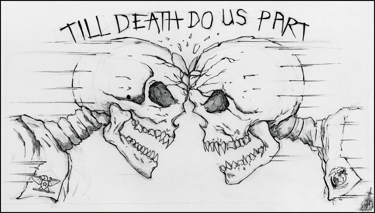 Till death do us part by narcotic nightmares on deviantart for Until death do us part tattoo