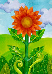 sun flower by artupida