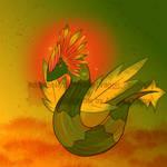 Autumn Dragon Adoptable [OPEN] by AffableDragon