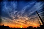 Colorful sunset by Honosuke