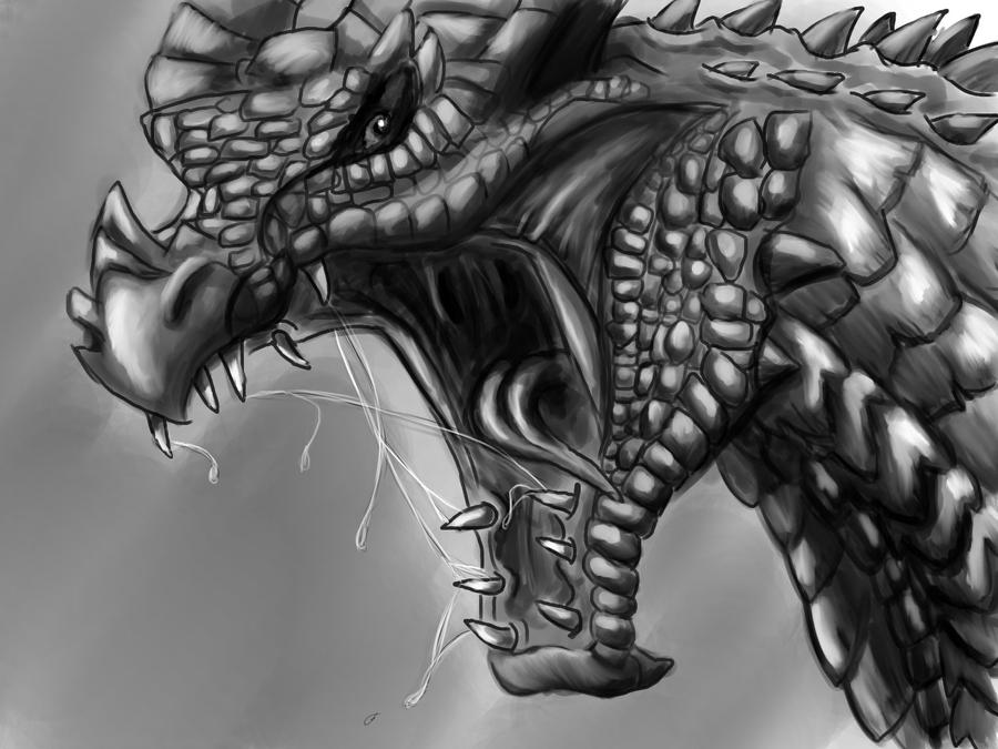angry dragon is angry by caerulai on deviantart