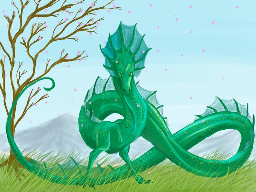 Lindworm Dragon: Lindworm Dragon Request By Caerulai On DeviantArt