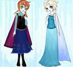 Anna  y  Elza frozen