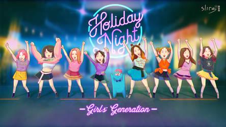 Girls' Generation Holiday ' Night fanart Wallpaper by slirg27