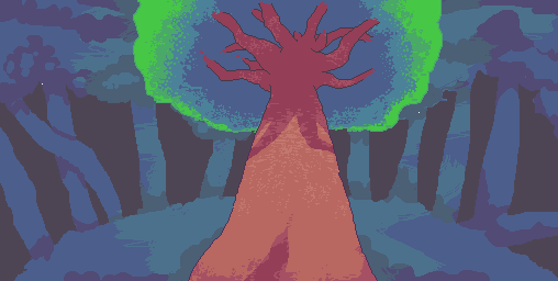 Pixelated Tree by zxmantisxz