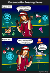 PokemonGo: Tossing Items