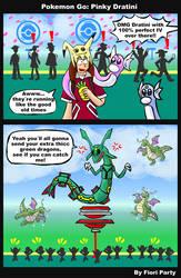 Pokemon Go: Pinky Dratini by fiori-party