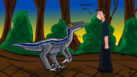 Jurassic World Fallen Kingdom: Blue and Owen by fiori-party