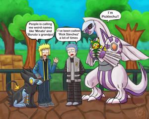 Pokemon Masters Ex: Minato and Rick Sanchez