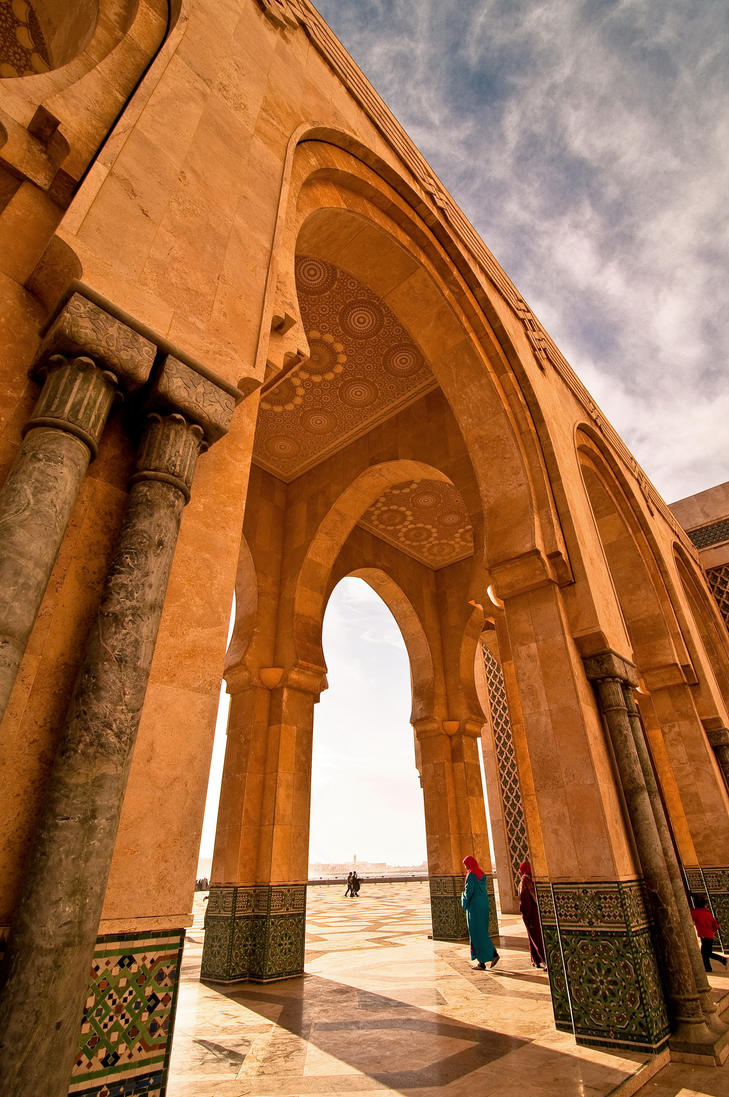 King Hassan II Mosque, Morocco by georgeparis