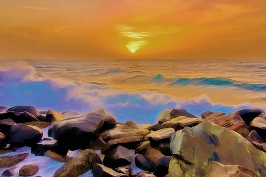 Red Sea Sunset - Digital Art