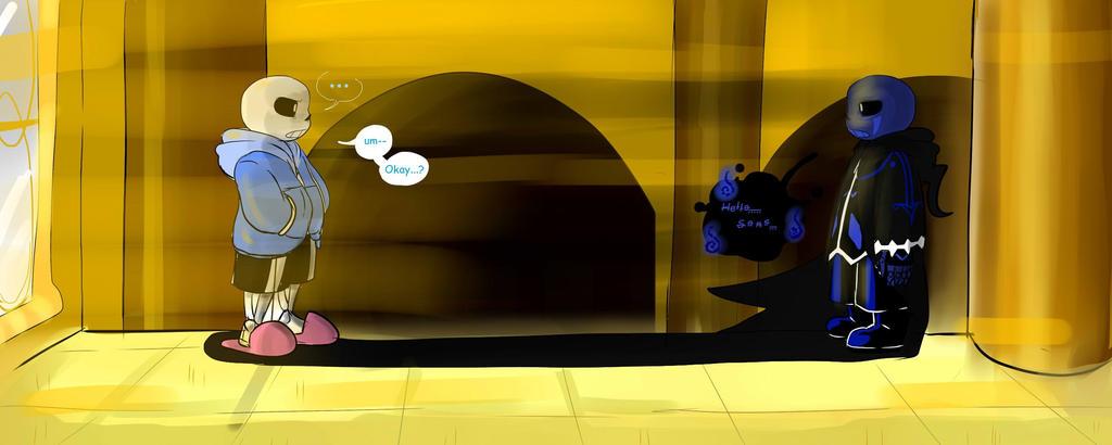 sans shadowtale meeting perfectshadow06 deviantart help