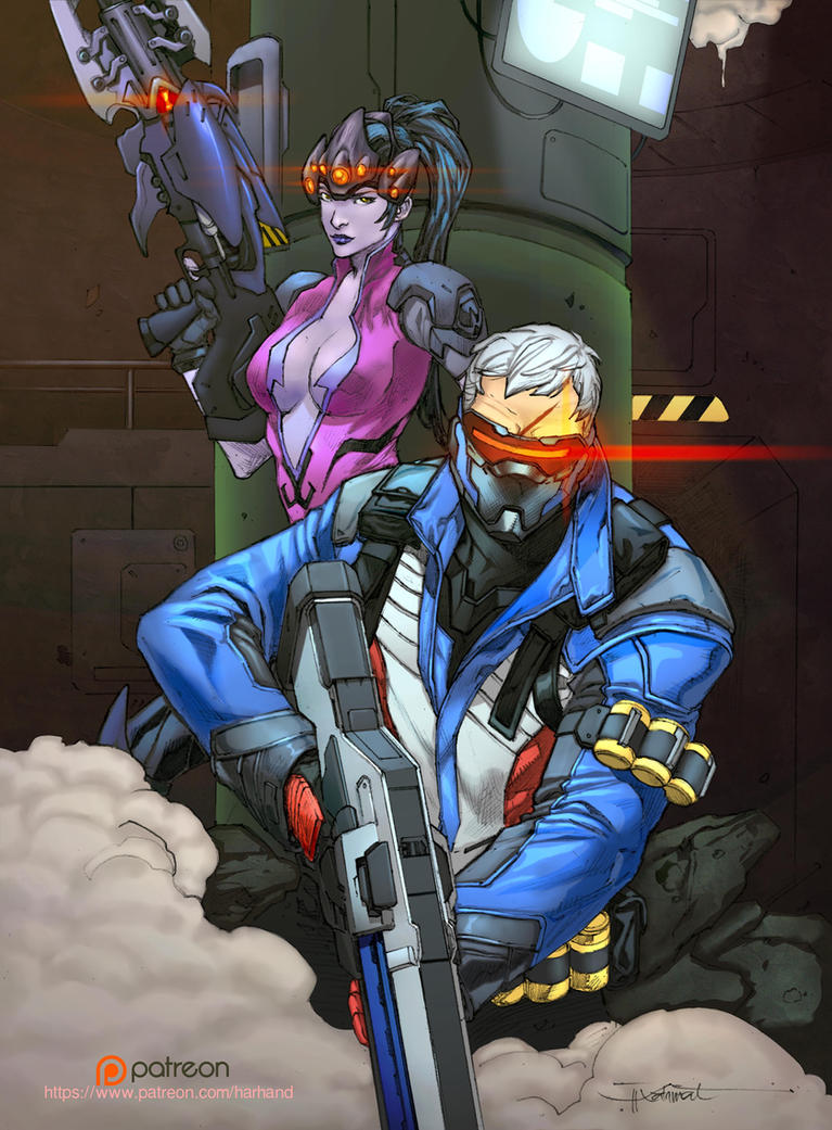 Soldier 76 - Widow Maker - Overwatch by h4125