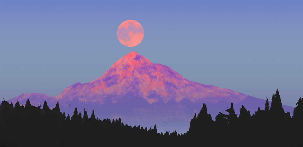 Doodle - Supermoon by h4125