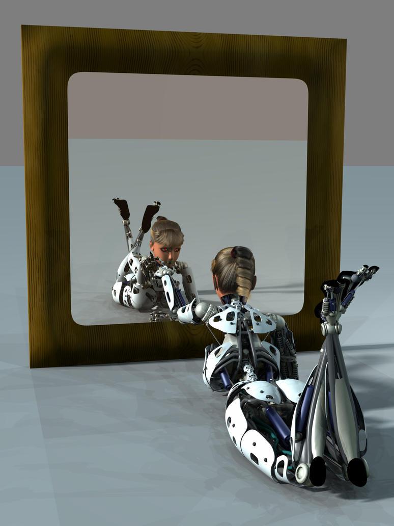 Robot pin up 07 by Ean-Sze