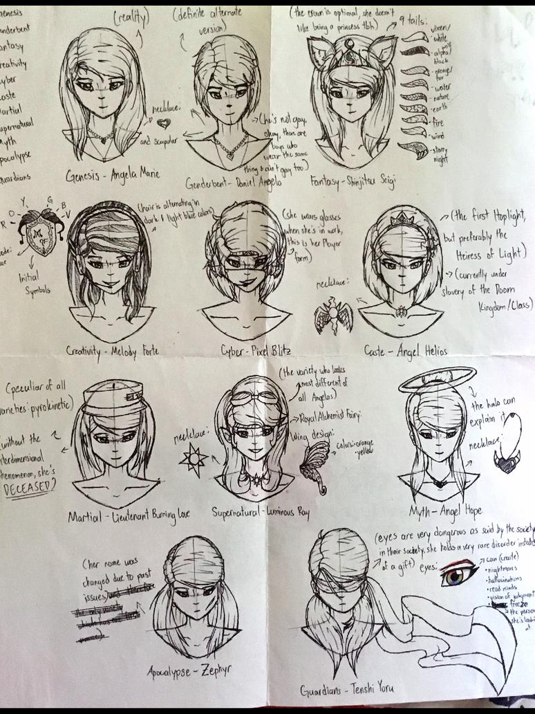 Reference 4: Angela AU Varieties by ShinjitsuForever