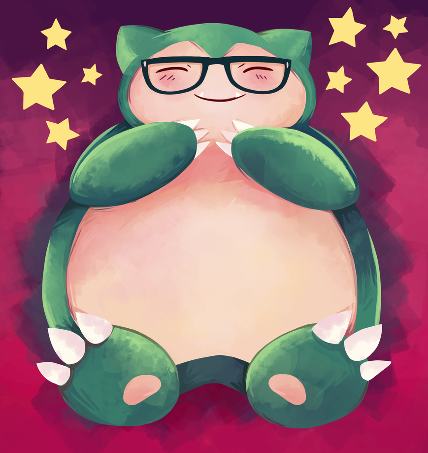 Hipster Snorlax by missxdelaney